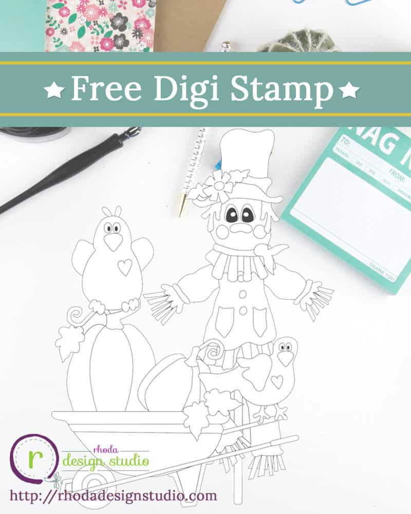 Free Happy Harvest Thanksgiving Digital Stamps Rhoda Design Studio