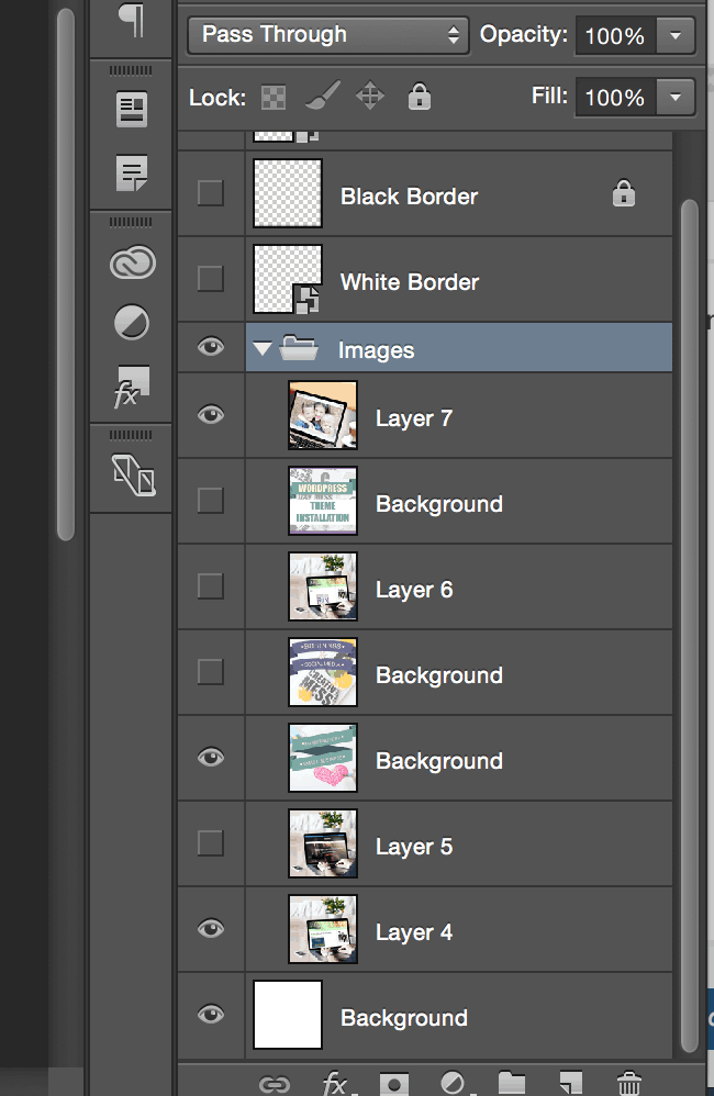 File organization in Photoshop for Instagram and Photoshop Images