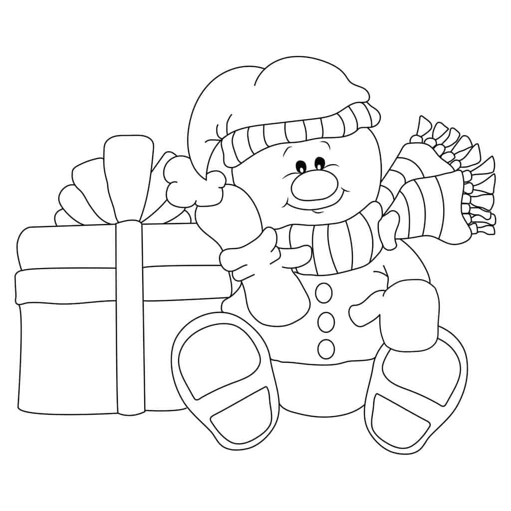 Free Digital Snowman Stamp