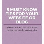 5 Must know tips for your website or blog. Fix these things on your site!