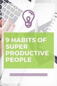 9 Habits of super productive people. Learn to manage your time, become efficient while planning your day, and get more things done. What are the best tricks? via @rhodastudio
