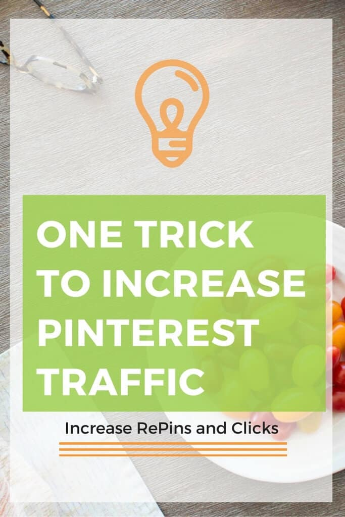 Applying this one trick will increase your Pinterest traffic. Find out what you can easily change on your site or blog to increase the number of people who visit your site from Pinterest.