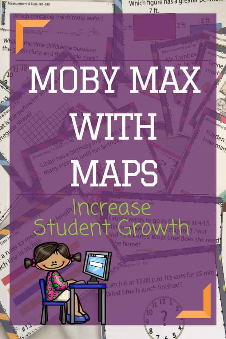 Learn how to use Moby Max with NWEA Maps testing practice to increase student growth. Mobymax math and NWEA reports work together to help you engage students in NWEA prep that is meaningful and fun. #rhodadesignstudio