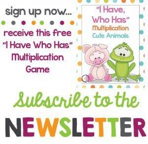 Rhoda Design Studio Newsletter Sign Up for Multiplication Game