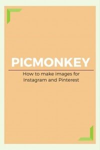 Creating images with PicMonkey for your blog, website, Instagram or shop. Easy to learn and use. Read the tutorial.