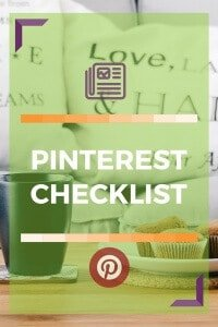 A checklist to help you go through the steps of setting up a great Pinterest account and profile.