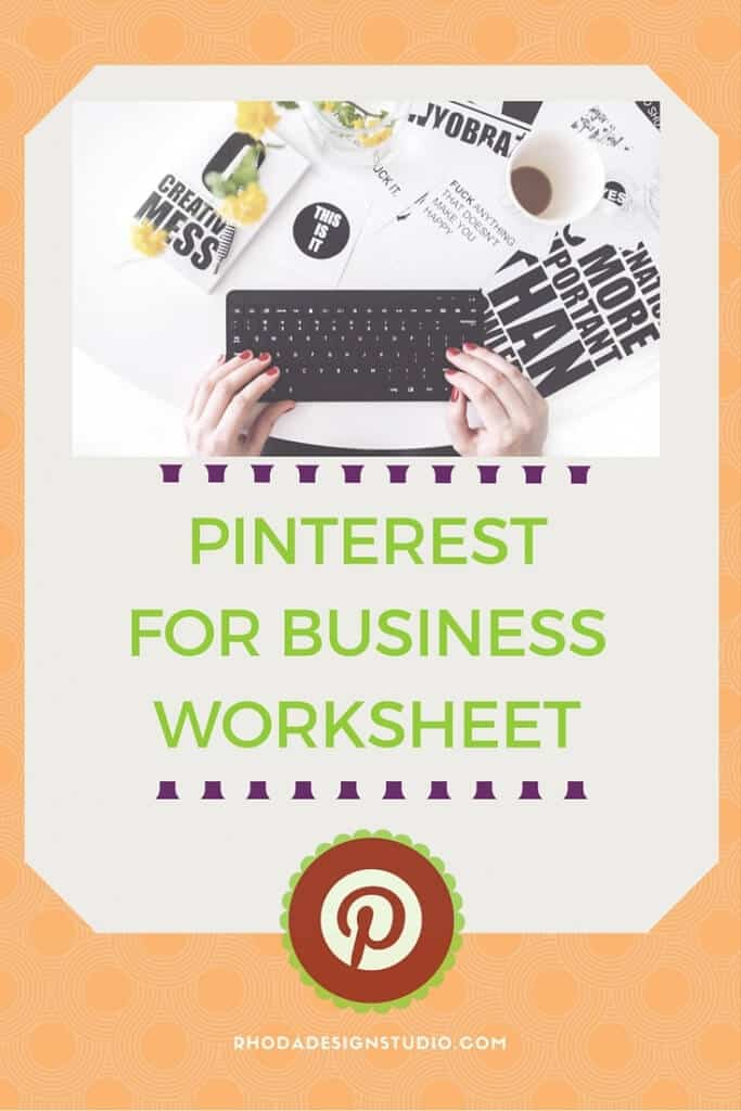 A worksheet for business owners, blog owners, or infopreneurs. If you are on Pinterest this Pinterest worksheet will help you get started with your profile. Check it out!