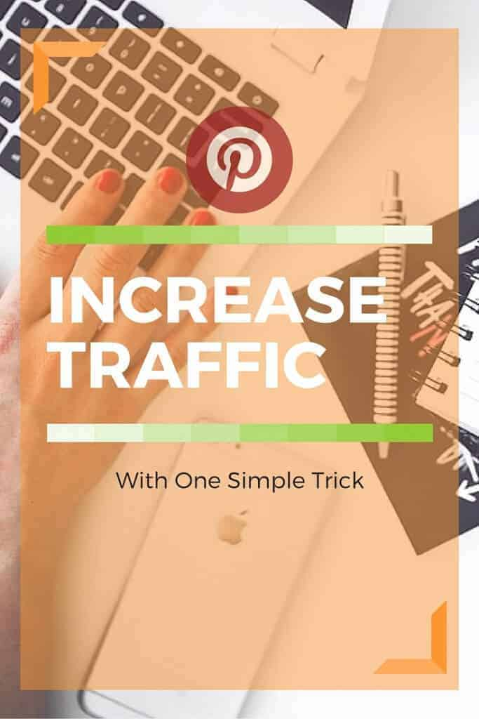 This one simple trick will increase Pinterest traffic. Pinterest marketing is easy when you know some of the secrets. Click to learn more.