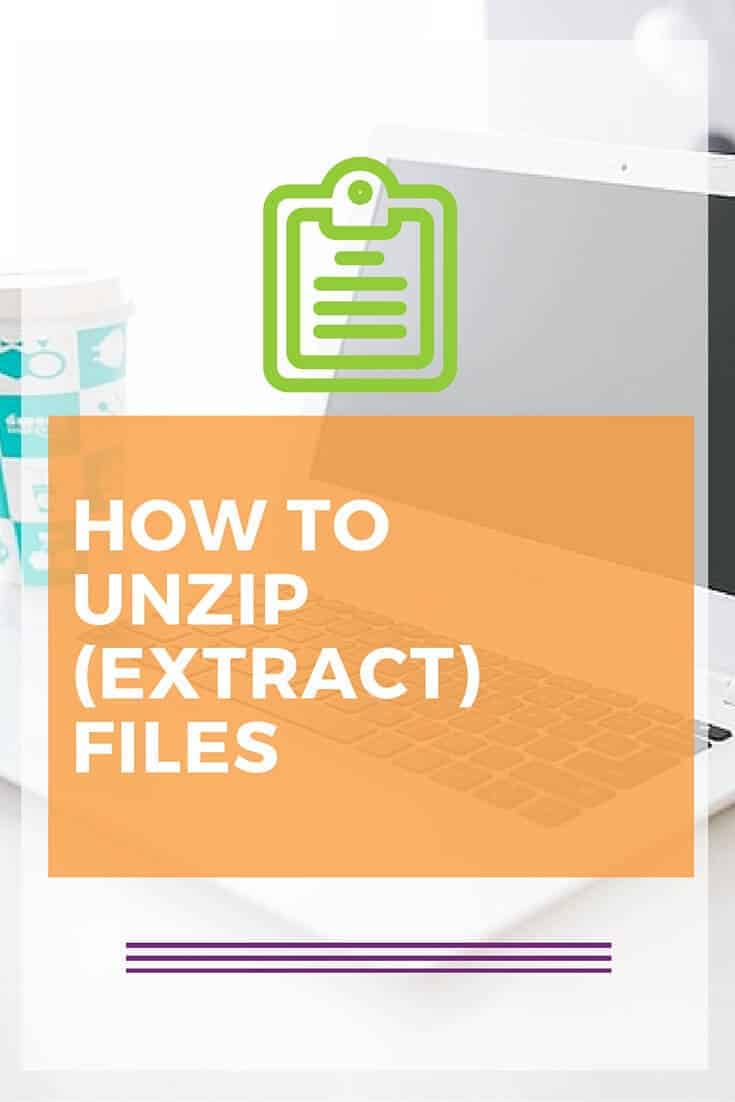 How to Unzip or Extract files using a MAC or PC. Step by step tutorial. Click to read.