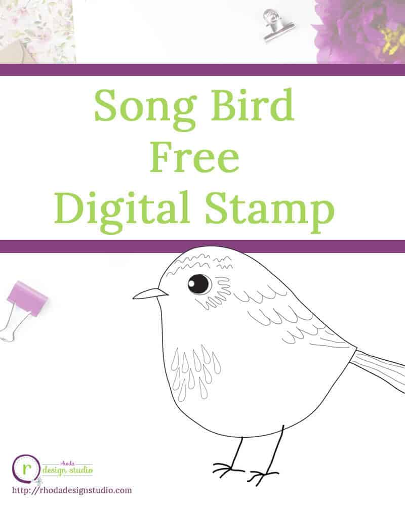 A free digital stamp. Add some little song birds to your next project. Visit the blog to get your image!