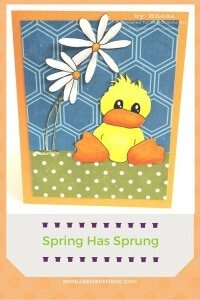 Duck and Daisy Card and Digital Stamp by Rhoda Design Studio for Sketch Saturday.