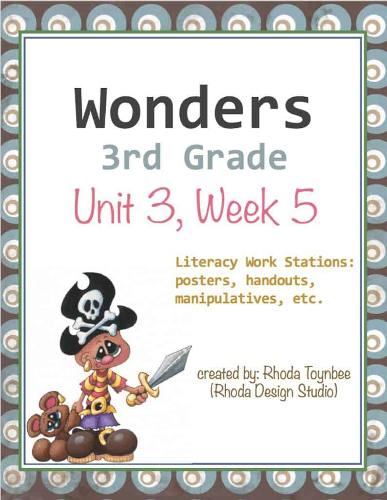 Wonders Reading Units for 3rd Grade. Created by Rhoda Design Studio. Available on TpT and Etsy.