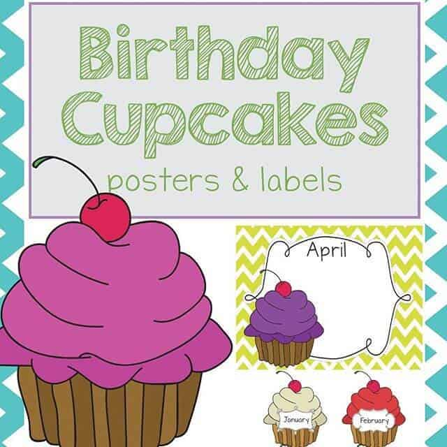 Birthday Cake Labels for Bulletins by Rhoda Design Studio Teachers Pay Teachers Product