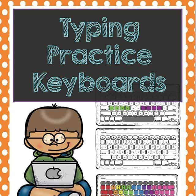 Typing Practice Keyboards for your classroom by Rhoda Design Studio Teachers Pay Teachers Product