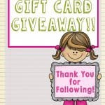 100 Followers: TpT Gift Card Giveaway