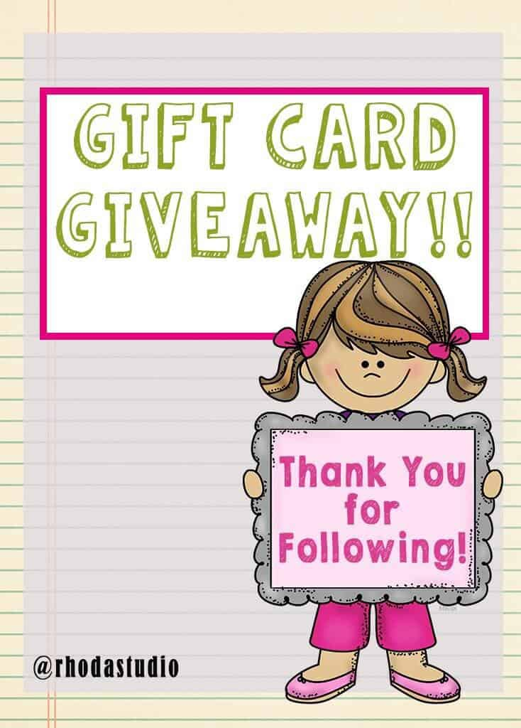 Teachers Pay Teachers Gift Card Giveaway Rhoda Design Studio