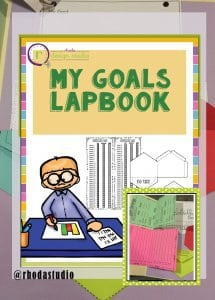 My Goals Lapbook by Rhoda Design Studio. Tracking MAPs test goals and Lexile reading levels.
