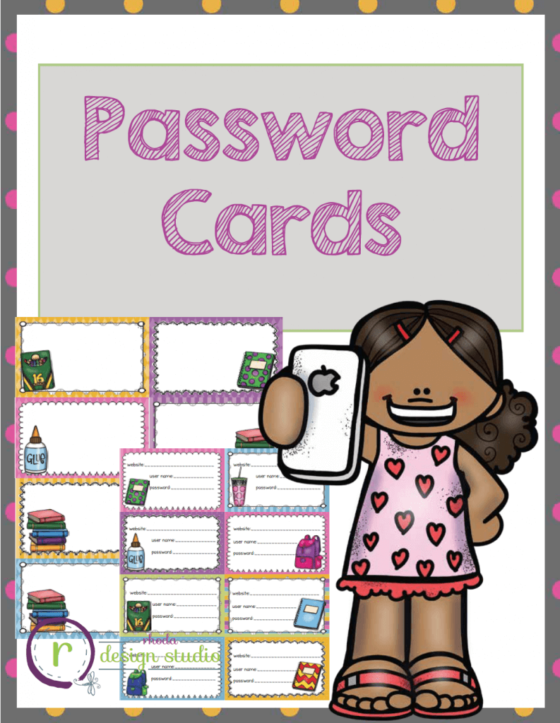 24 colorful name tags and password cards. Print as many website cards as needed to keep track of your students user names and passwords. Great for sites like MobyMax, Wonders student area, NWEA Skills Navigator, and more!