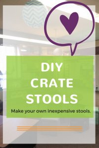 A DIY tutorial on how to make crate stools out of dairy crates. Use in your classroom, dorm room, or kids play room. Rhoda Design Studio