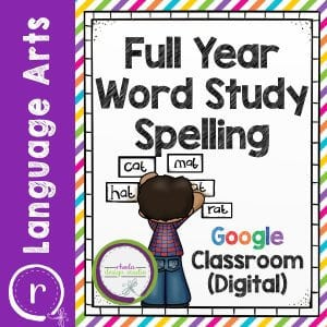 A full year of spelling skills that can be used to create an independent, differentiated, or project based spelling program. There are 10 spelling activities that can be reused each week, bulletin board elements, printable Post-It template for your weekly word wall, and a basic lesson guide for how a week is organized for student led spelling.