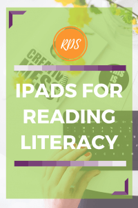 Reading Literacy with iPads. Technology in the classroom. Rhoda Design Studio