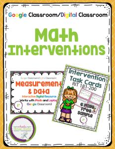 Math Interventions With Google Classroom. Rhoda Design Studio