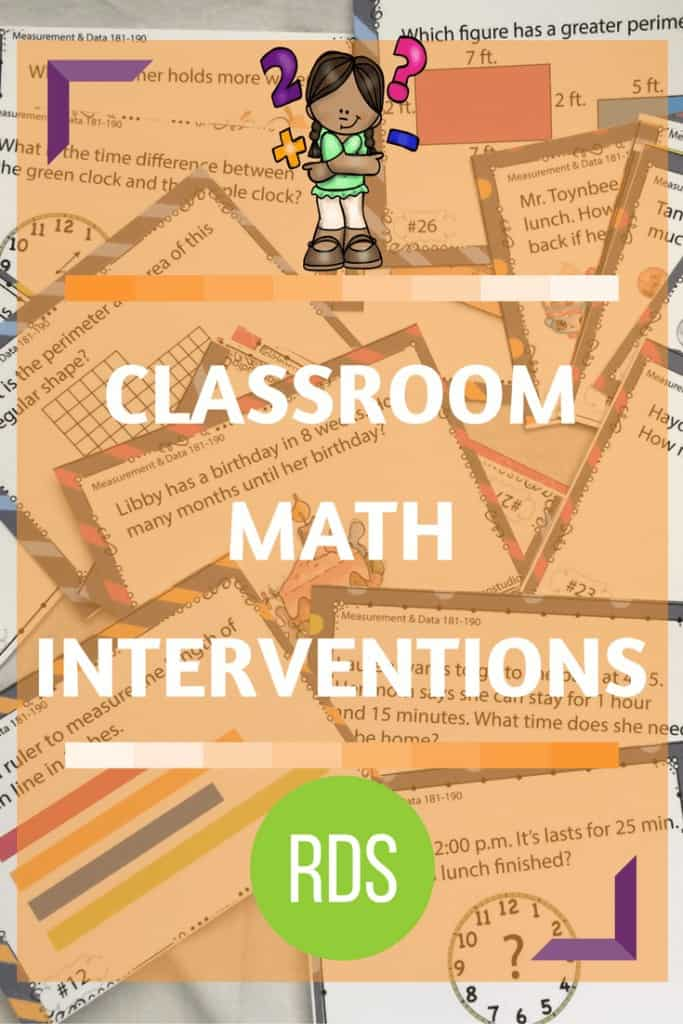 Classroom Math Intervention Strategies. If you are like most teachers, you have a room full of eager learners who struggle at different math concepts. How do you implement math intervention strategies that fulfill the needs of each of those students and still keep your sanity?