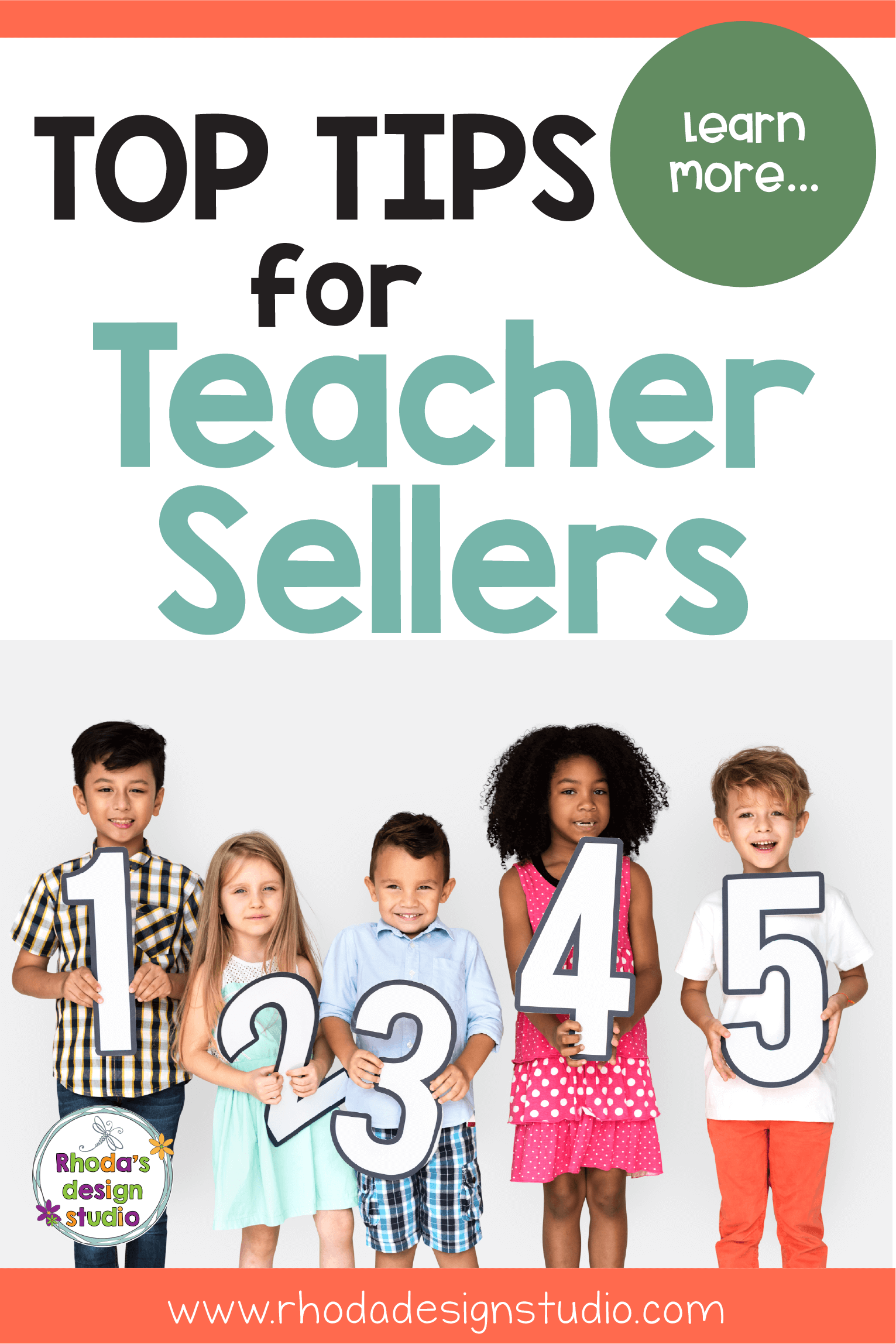 Learn to sell on Teachers Pay Teachers. Top Tips for New TpT Sellers. Make money online as a teacher by creating a side-hustle selling lesson plans. Rhoda Design Studio #rhodadesignstudio