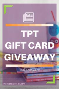 500 Followers Milestone Gift Card Giveaway.