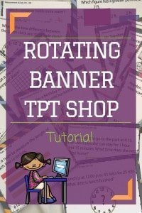 Creating a rotating banner on Teachers Pay Teachers. Video Tutorial and PDF. Rhoda Design Studio
