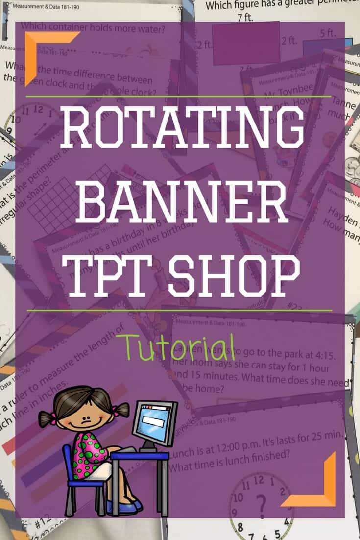 Do you need help creating a rotating banner on Teachers Pay Teachers. This blog post will help you design and upload a rotating gif into the quote section of your shop. Video Tutorial and PDF. Rhoda Design Studio
