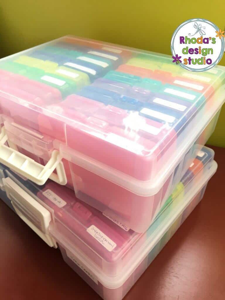 jewel cases to organize task cards in your classroom