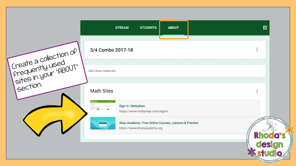 Use Google Classroom for Math Practice by providing links to math websites for your students.