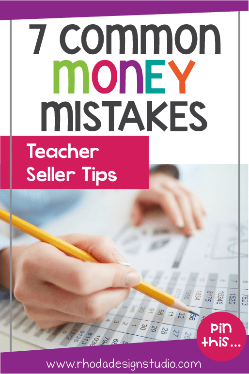 These common bookkeeping mistakes that teacher-authors and teacherpreneurs make can help you learn what you should be doing to keep track of your expenses and earnings. Track your side hustle money so you are ready for tax time!