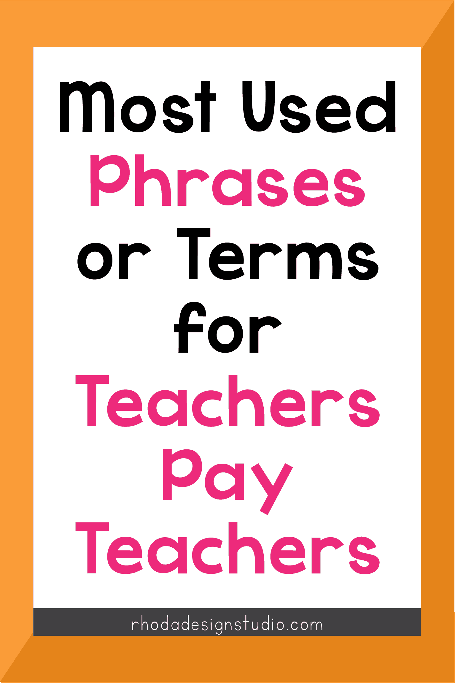 The 9 most common words used by teachers who sell on Teachers Pay Teachers. Get started with your side hustle and learn the terms. Click to read more.