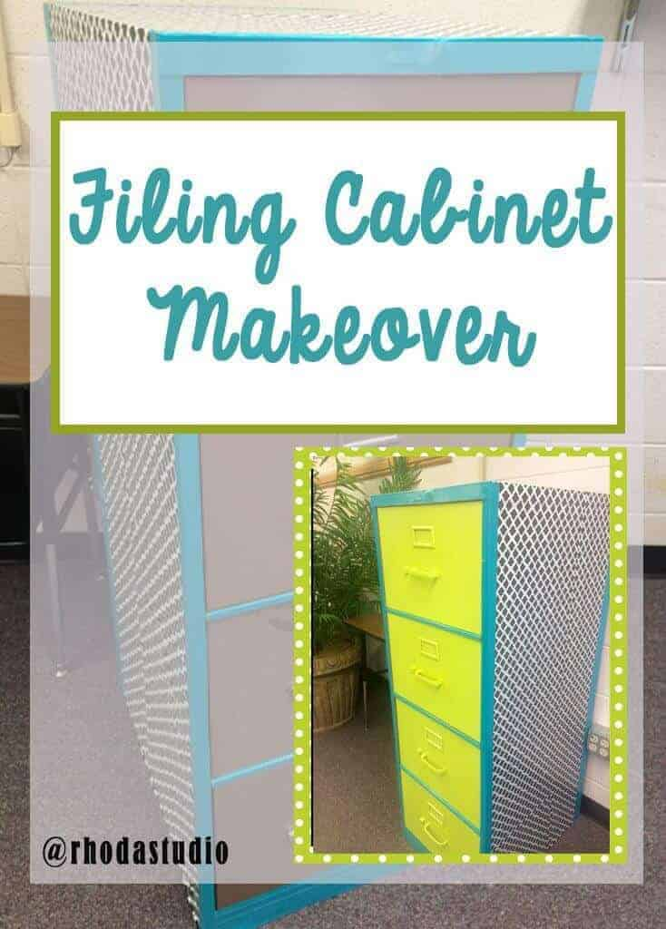 Change a nasty looking filing cabinet into something cute. Contact paper, duct tape, and spray paint for a great filing cabinet makeover. Rhoda Design Studio