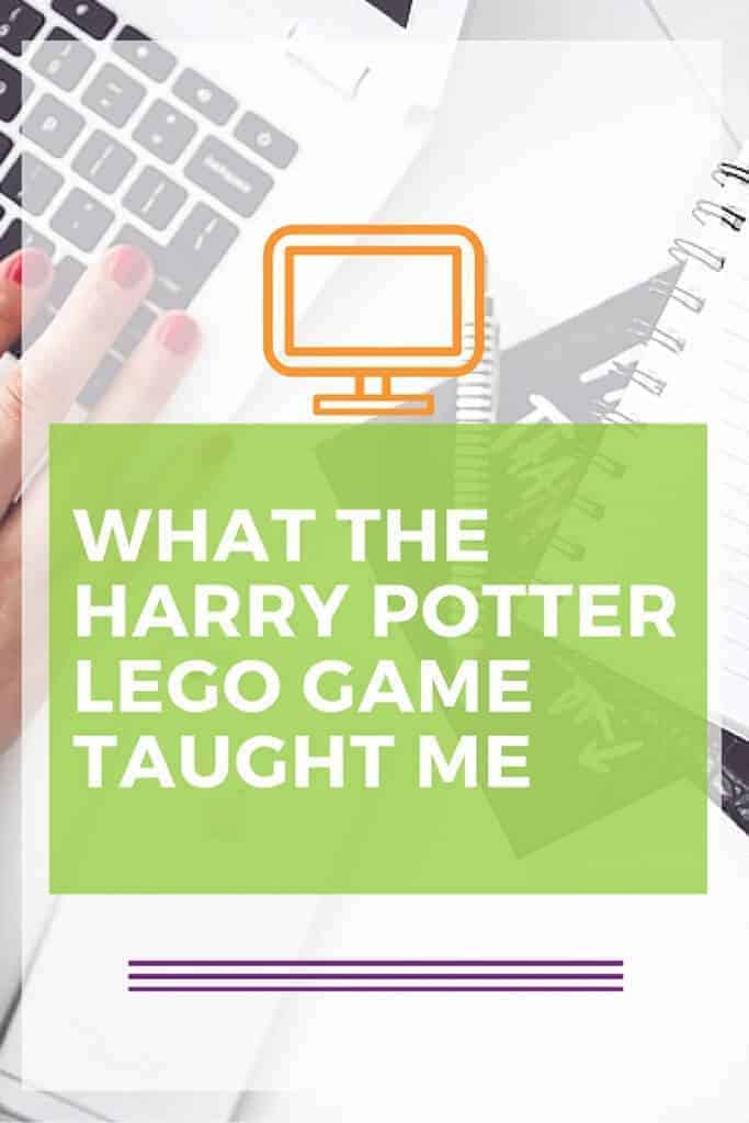 What I learned from the Harry Potter Lego game and playing with my son. Life lessons on the blog.