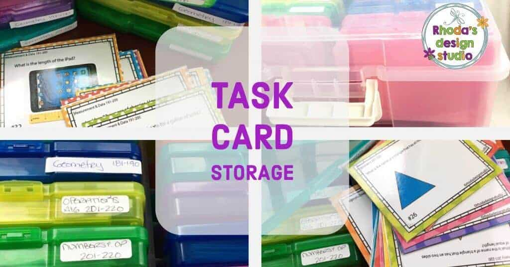 How do you organize task cards in your classroom?