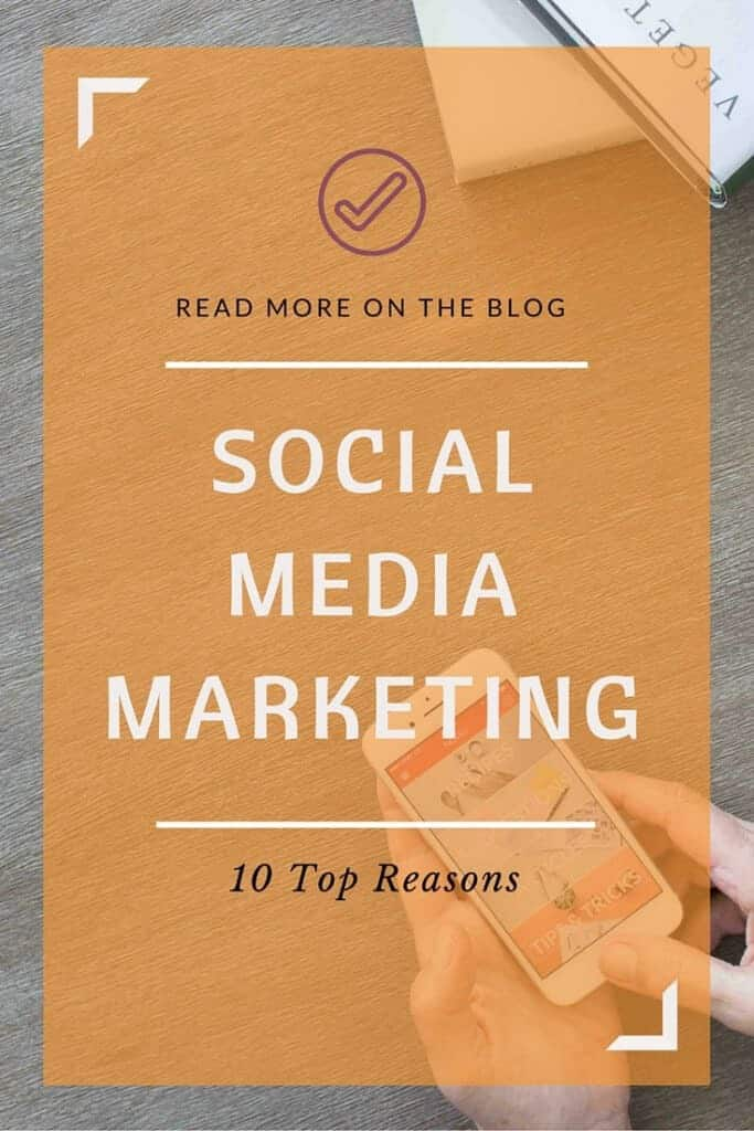 The Top 10 Reasons you need to be marketing your business on social media. Social Media Marketing by Rhoda Design Studio. Click to read more!