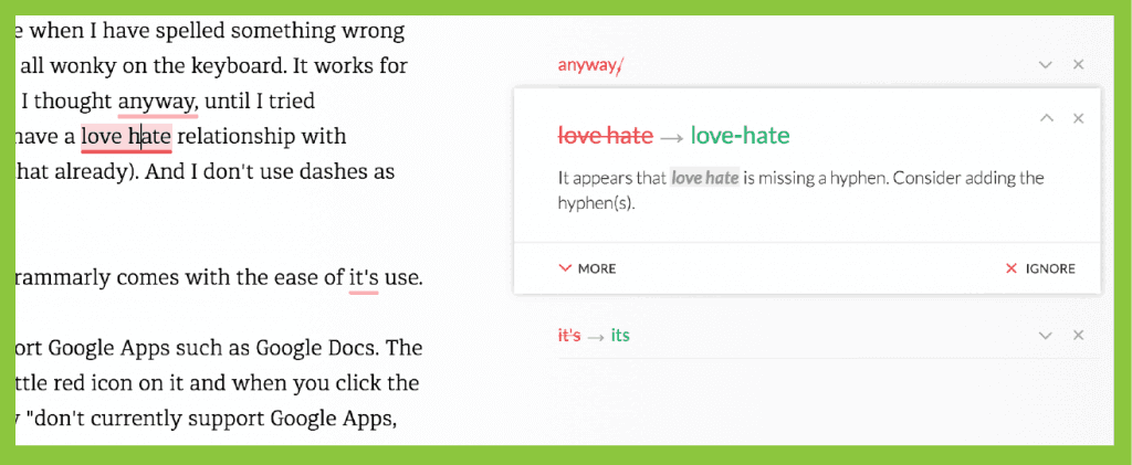 Grammarly is the best online grammar resource for teachers who create blog posts, online teaching materials, and want a grammar resource for their classrooms.