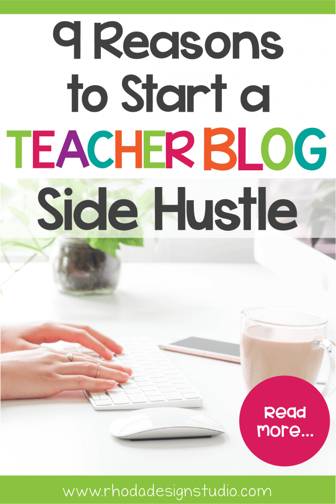 Blogging is a great side hustle for teachers to generate an extra income. Starting a blog as a teacher is one way to generate extra money and traffic for your Teachers Pay Teachers shop. Blogging for money is a way to create a passive income that allows you to pay off debt, save for retirement, or work at home while spending more time with your family.