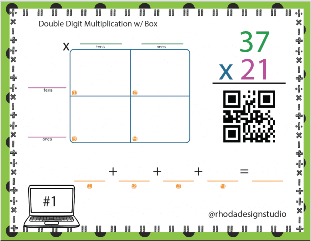 QR Codes in the classroom for extra math practice, library read alouds, web links and more.