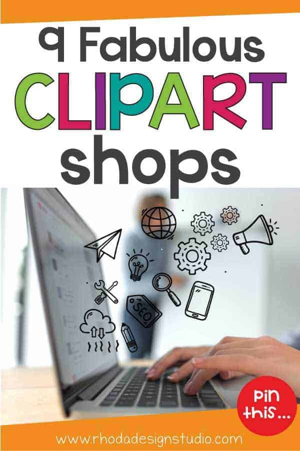 A list of 9 fabulous clipart sellers on Etsy that offer artwork for Teachers Pay Teachers sellers.