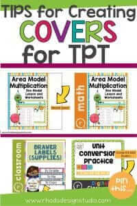 Get tips on creating a cover for your TPT products. Make great product covers and get potential buyers attention.
