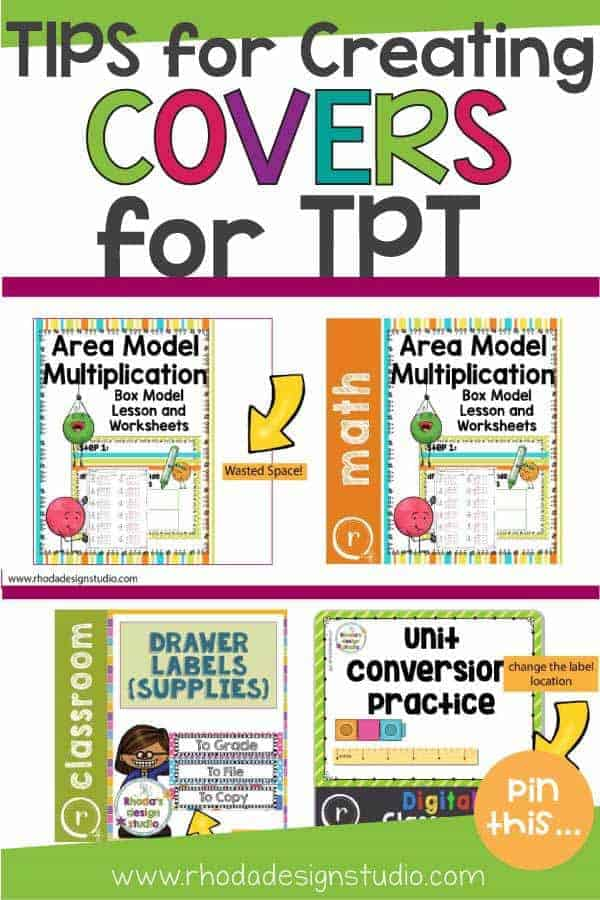 Get tips on how to create a cover for TPT products. Make great product covers and get potential buyers attention.