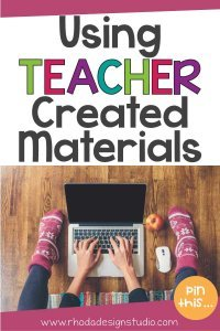 Using teacher created materials in your classroom is a great way to engage your students.