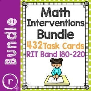 Math interventions bundle for RIT Bands 180-220. K-5 Math Teaching Resources.