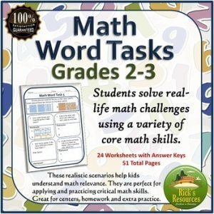 Math word tasks for grades 2-3. k-5 math teaching resources for teachers in the classroom. k-5 math teaching resources for teachers in the classroom.