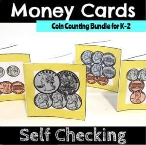 Money cards. Cash counting bundle for grades K-2. k-5 math teaching resources for teachers in the classroom.
