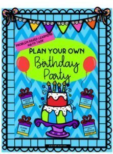 Plan your own birthday party. Project learning homework sheets. k-5 math teaching resources for teachers in the classroom.